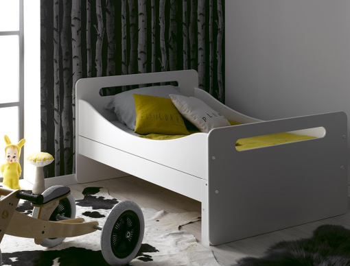 lit enfant volutif blanc f ro un lit gar on ou un lit fille bio et sain fabriqu en france. Black Bedroom Furniture Sets. Home Design Ideas