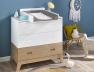 Commode bébé et enfant Archipel Blanc/Chêne. Possibilité d'installer le plan à langer Archipel.