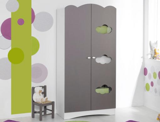 armoire enfant altea taupe. Black Bedroom Furniture Sets. Home Design Ideas