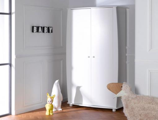 Armoire chambre enfant Médéa Blanc