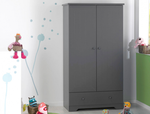 armoire chambre enfant anthracite oslo. Black Bedroom Furniture Sets. Home Design Ideas