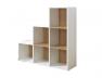 Cube de rangement 6 cases en escalier blanc
