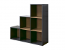 Cube de rangement 6 cases escaliers anthracite