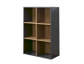 Cube de rangement 6 cases anthracite