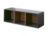 Cube de rangement 3 cases anthracite