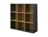 Cube de rangement 9 cases anthracite