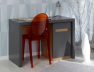 Bureau enfant Milo anthracite. Caisson en option.