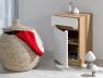 Bureau enfant avec caisson modulable Milo blanc