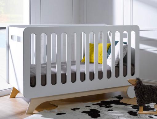 promo lit bb bonheur blanc bouleau barreaux - Bebe Lit Evolutif