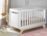 Lit bébé Bonheur blanc bouleau barreaux