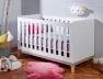 Lit bébé évolutif Evidence Blanc/Hêtre 70x140