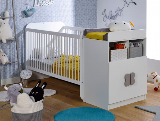 lit chambre b b madrid blanc. Black Bedroom Furniture Sets. Home Design Ideas