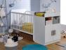 Lit bébé évolutif Madrid Blanc 70x140