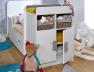 Lit bébé évolutif Madrid Blanc 70x140. Tiroir en option