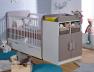 Lit bébé évolutif Madrid Blanc/Lin 70x140