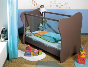 Lit bébé Plexiglas® Iris Taupe