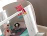 Lit bébé évolutif Belem Lin Blanc