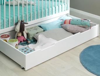 Tiroir lit bébé Oslo blanc