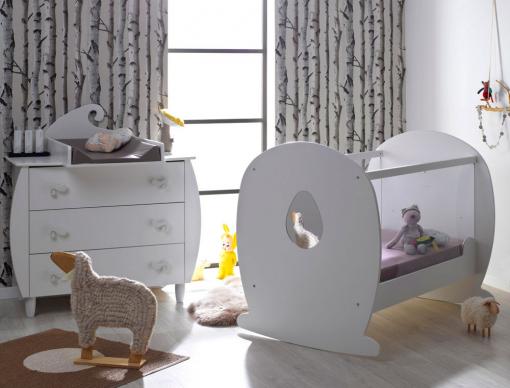 Petite chambre bébé Lutin Blanc-chambrekids