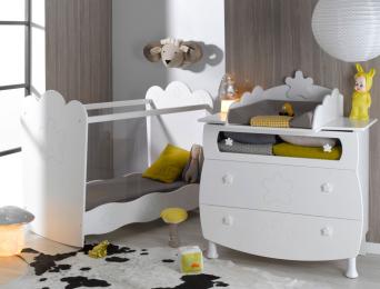Petite chambre bébé Linéa plexiglas® blanc