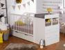 Chambre évolutive bébé Malte Blanc matelas