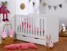 Lit bébé évolutif Module blanc barreaux et kit de conversion