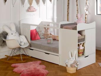Chambre évolutive bébé Belem Blanc matelas