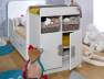 Chambre évolutif bébé Madrid Blanc matelas+tiroir
