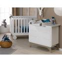 Petite chambre bébé Bonheur Blanc & Lin