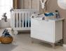 Petite chambre bébé Bonheur blanc Lin
