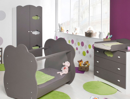 chambre b b compl te alt a taupe chambre kids. Black Bedroom Furniture Sets. Home Design Ideas