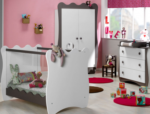 chambre b b doudou taupe blanc chambrekids. Black Bedroom Furniture Sets. Home Design Ideas