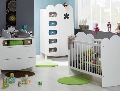 Chambre bébé Linéa Blanc barreaux