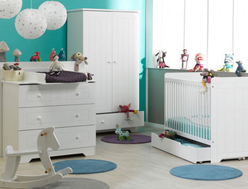 Chambre bébé Oslo Blanc-chambrekids