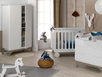 Chambre bébé Bonheur blanc lin