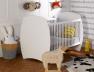 Chambre bébé Médéa blanc couchage 70x140