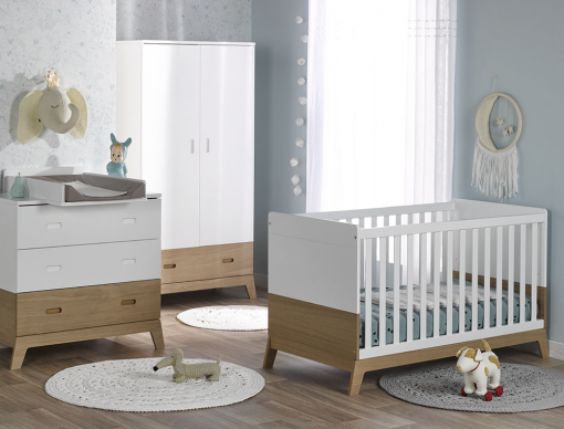 Chambre bébé Archipel blanc chêne