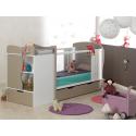 Chambre bébé évolutive Belem Lin & Blanc + Tiroir & Matelas