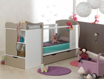 Chambre évolutive bébé Belem Lin Blanc matelas