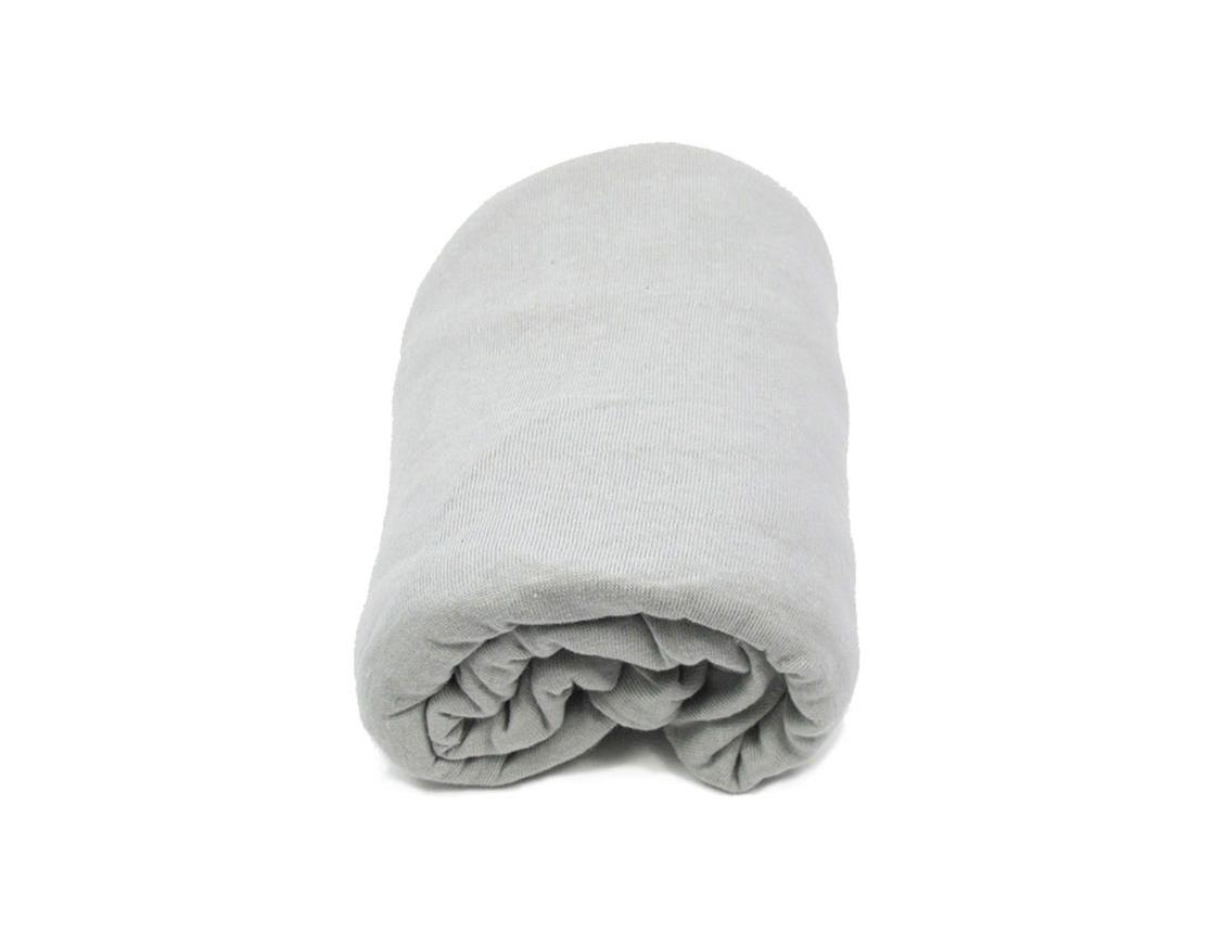 drap housse 60 x 120 cm gris chambrekids. Black Bedroom Furniture Sets. Home Design Ideas