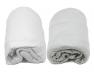 Lot de deux Draps Housse Blanc & Gris 70x140