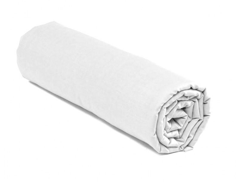 Drap housse blanc 140x200, 100% coton et de Fabrication Française