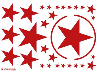 Stickers étoiles Rouge