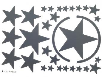 Stickers étoiles Anthracite