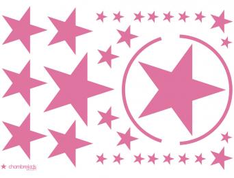 Stickers étoiles Rose