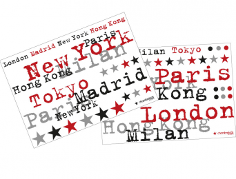 Stickers City 2 planches