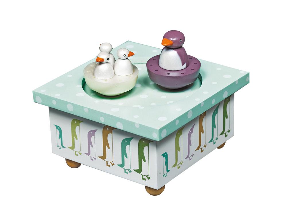 Boîte à musique pingouin pour chambre de bébé