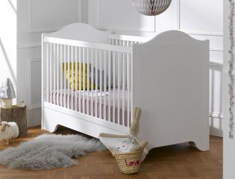 Lit bébé évolutif Occitane blanc 70x140