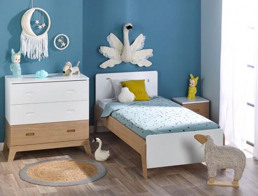 Petite chambre enfant archipel blanc ch ne chambrekids - Petite chambre enfant ...