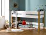 Vous pouvez transformer le lit mezzanine en lit mi-hauteur